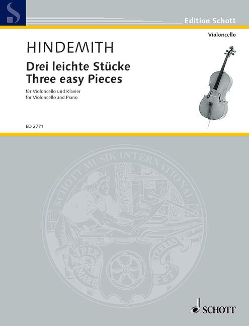 HINDEMITH PAUL - THREE EASY PIECES - CELLO AND PIANO