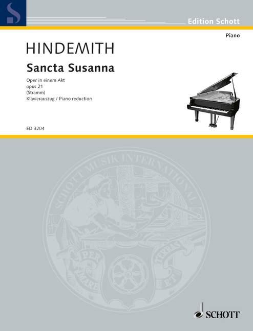 Hindemith Paul - Sancta Susanna - Voice And Piano