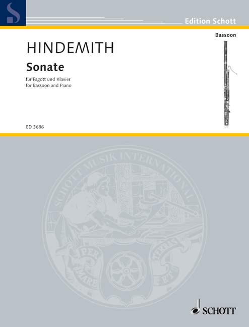 Hindemith Paul - Bassoon Sonata - Bassoon And Piano
