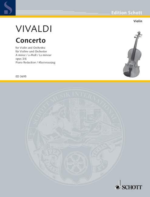 Vivaldi Antonio - L'estro Armonico Op. 3/6 Rv 356 / Pv 1 - Violin, String Orchestra And Harpsichord