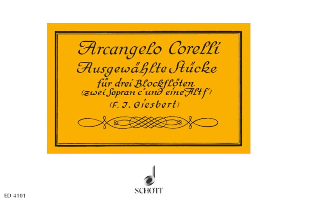 Corelli Arcangelo - Selected Pieces - 3 Recorders (ssa)