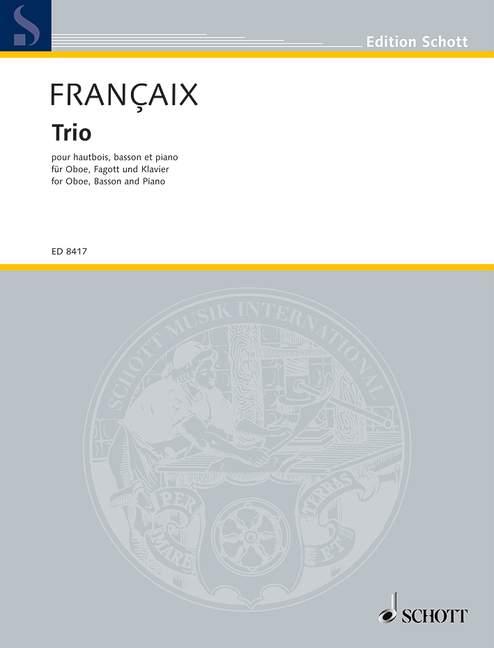 Francais Jean - Trio - Oboe, Bassoon And Piano
