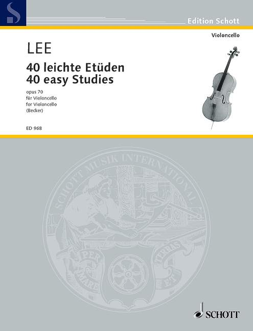 LEE SEBASTIAN - 40 EASY STUDIES OP 70 - CELLO