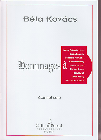 KOVACS BELA - HOMMAGES - CLARINETTE