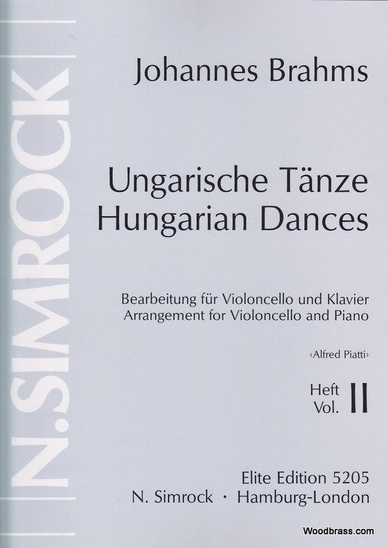 Brahms Johannes - Hungarian Dances  Vol.2 - Cello And Piano
