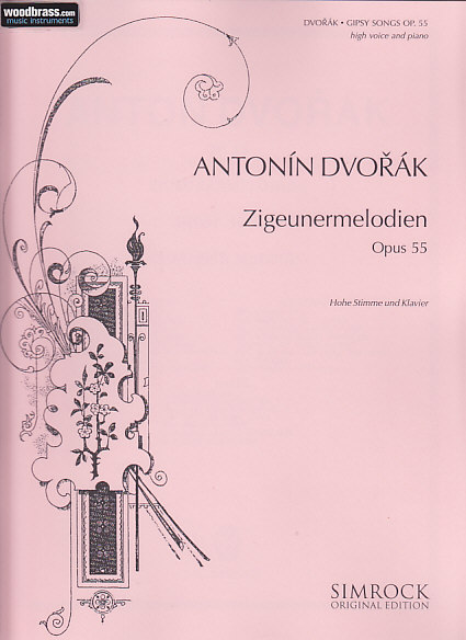 Dvorak Antonin - Gipsy Songs Op. 55 - High Voice And Piano