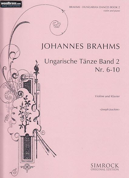 Brahms Johannes - Hungarian Dances  Vol.2 - Violin And Piano