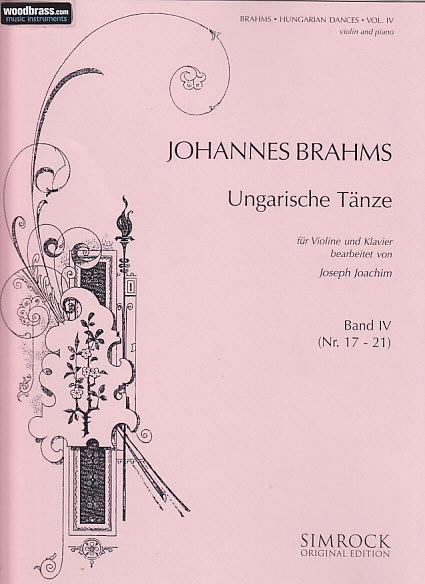 Brahms Johannes - Hungarian Dances  Vol.4 - Violin And Piano