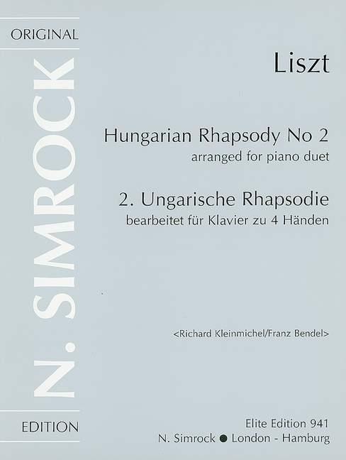 Liszt Franz - Hungarian Rhapsody No. 2 - Piano