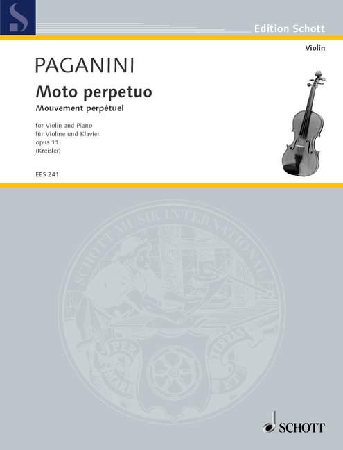 Paganini Niccolò - Moto Perpetuo Op. 11 - Violin And Piano
