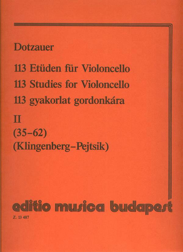 Dotzauer - 113 Studies V2 - Cello Solo