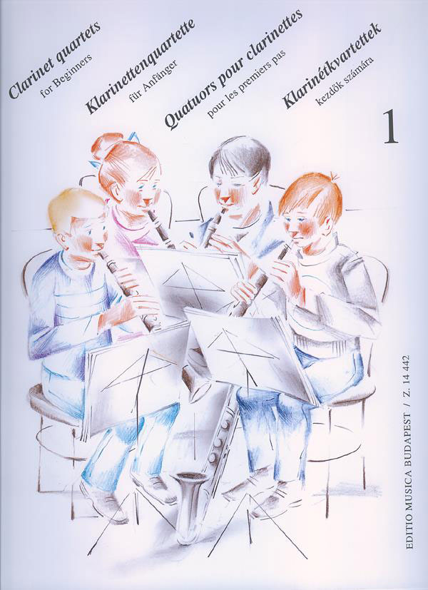 CLARINET QUARTETS FOR BEGINNERS VOL.1 - CLARINETTE