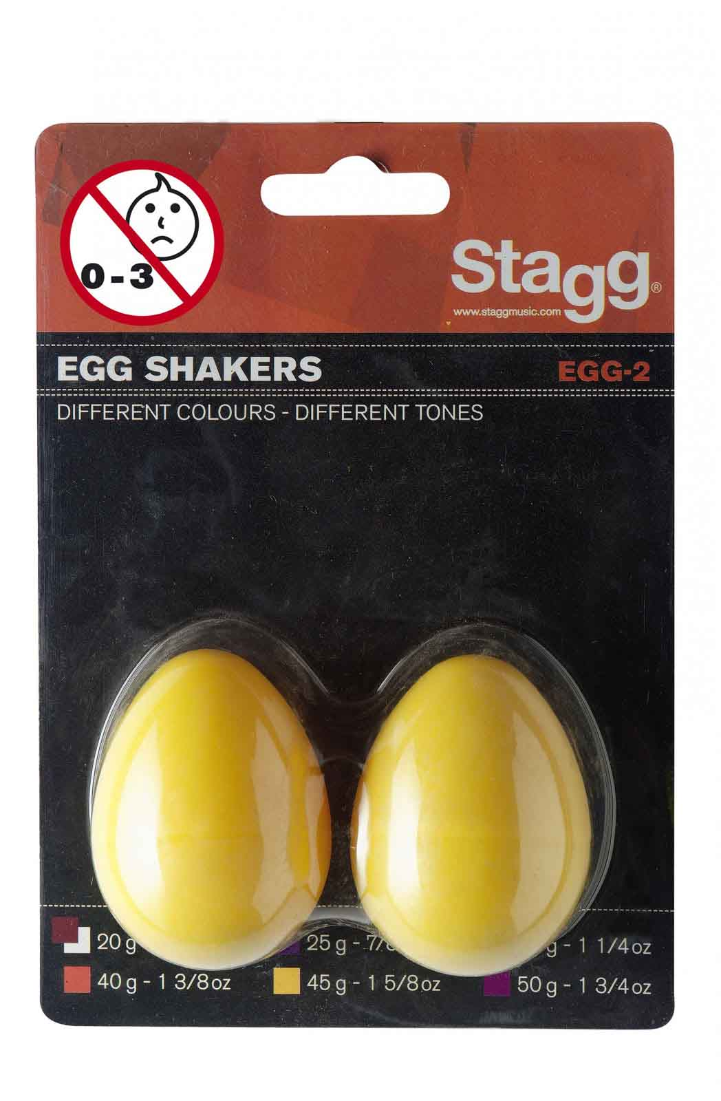 Stagg Paire Shaker Oeuf Plastique Egg-2 Yw