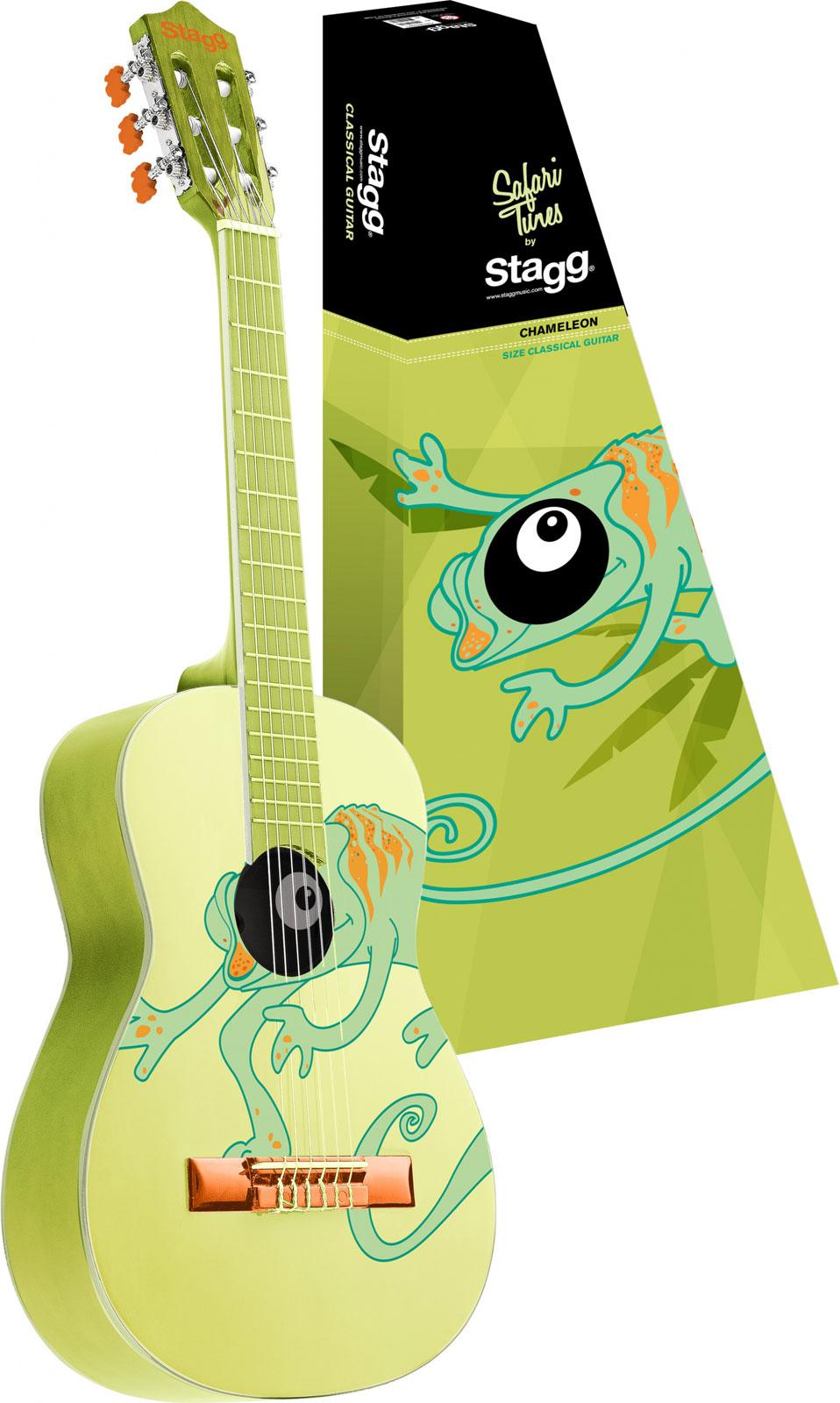 Stagg Guitare 3/4 - Vert Avec Motif Cameleon