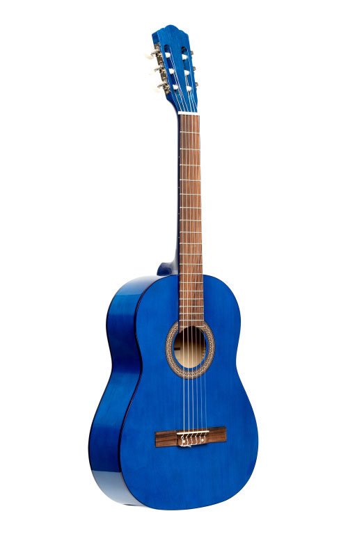 4/4 CLASSICAL GUITAR WITH LINDEN TOP, BLUE