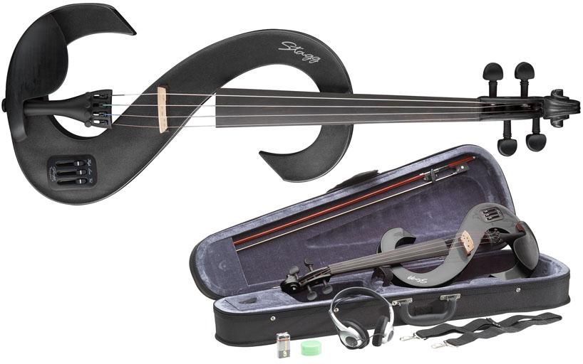 stagg set violon electrique 4 4 noir violin fiddle. Black Bedroom Furniture Sets. Home Design Ideas