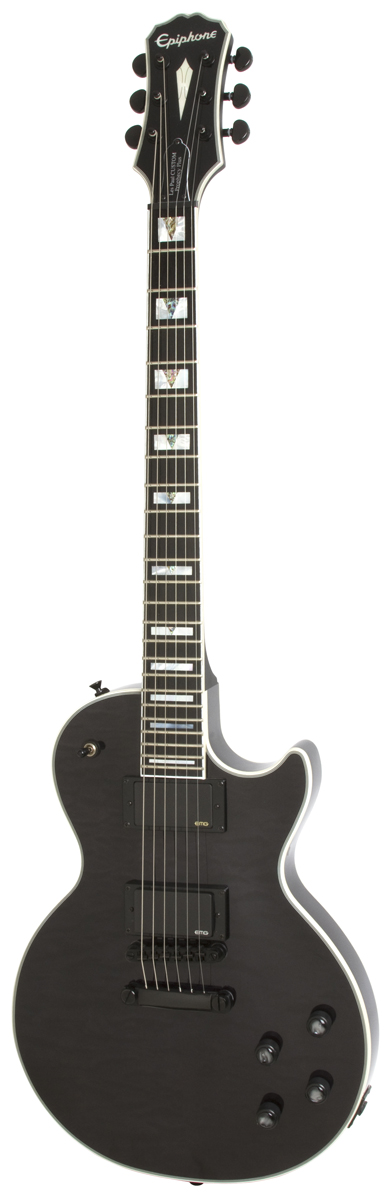 Epiphone Prophecy Les Paul Custom Plus Ex Outfit Midnight Ebony + Etui