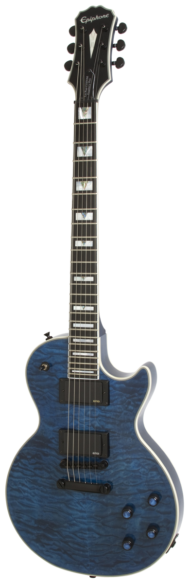 Epiphone Prophecy Les Paul Custom Plus Ex Outfit Midnight Sapphire + Etui