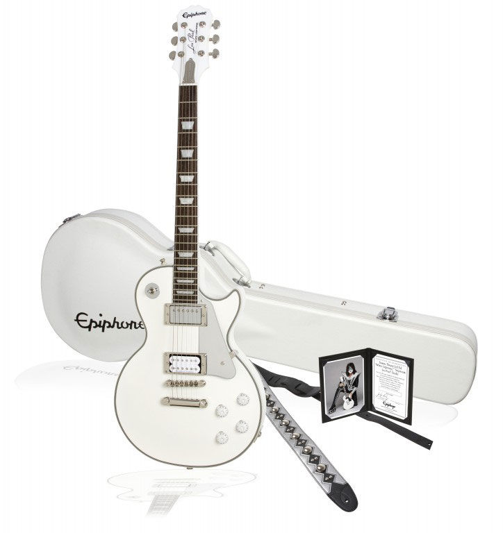 Epiphone Tommy Thayer Les Paul Outfit White Lightning