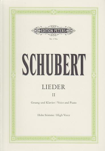 Schubert F. - Lieder Vol. 2 - Voix Haute Et Piano