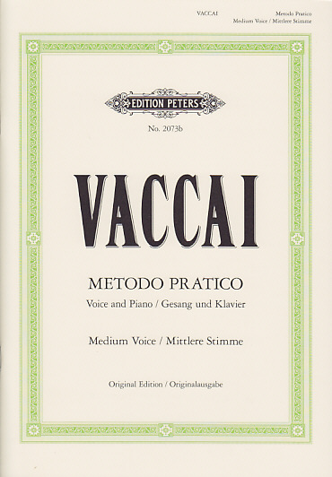 Vaccai - Methode Pratique (voix Moyenne)