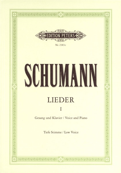 Schumann Robert - Complete Songs Vol.1: 77 Songs - Voice And Piano (par 10 Minimum)