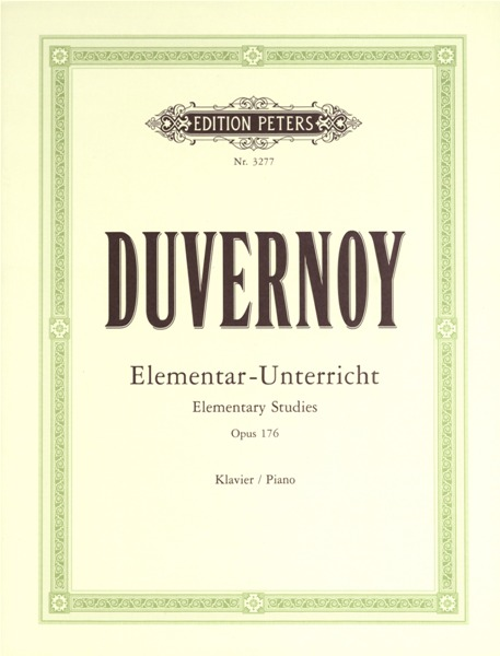 DUVERNOY JEAN BAPTISTE - ELEMENTARY STUDIES OP.176 - PIANO