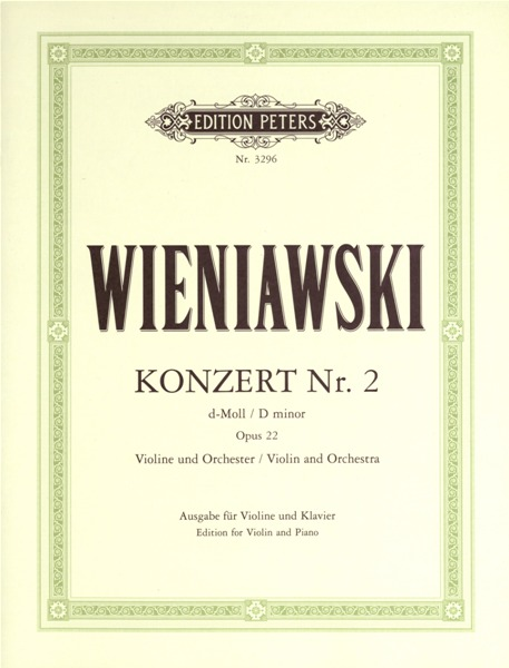 WIENIAWSKI - VIOLIN CONCERTO NO.2 IN D MINOR OP.22 - VIOLIN