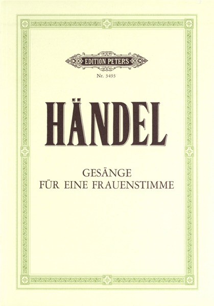 HANDEL GEORGE FRIEDERICH - 30 ARIAS FOR FEMALE VOICE - VOICE AND PIANO (PER 10 MINIMUM)