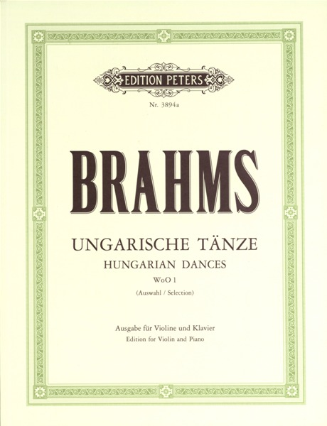 BRAHMS JOHANNES - HUNGARIAN DANCES NOS.1-12 - VIOLIN AND PIANO