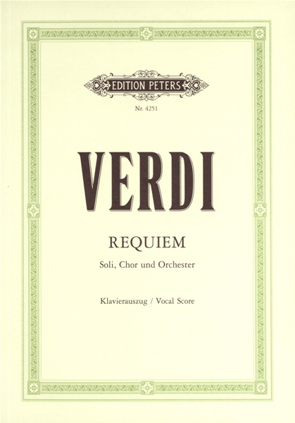 Verdi Giuseppe - Requiem - Mixed Choir (par 10 Minimum)