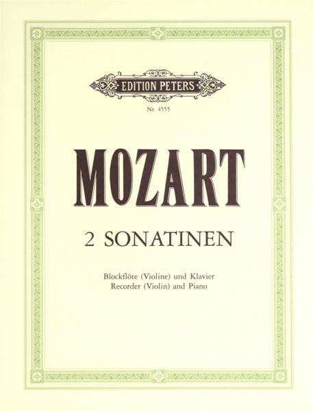 Mozart Wolfgang Amadeus - Sonatinas No.2 and 4 In B Flat K439b - Recorder