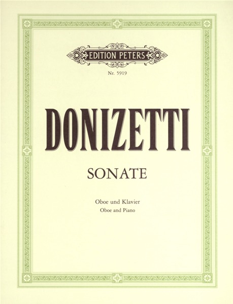 DONIZETTI GAETANO - OBOE SONATA IN F (CONCERTINO) - OBOE AND PIANO