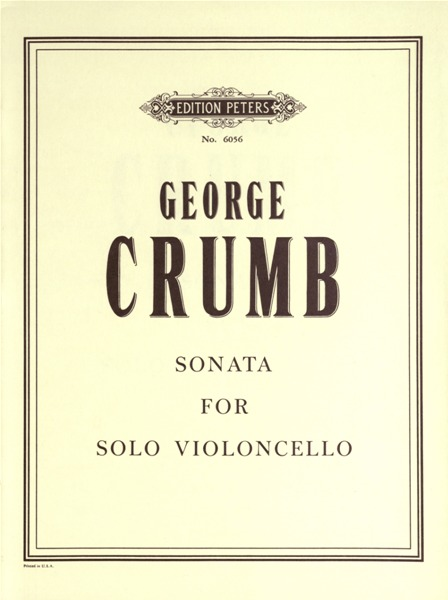 CRUMB GEORGE - SONATA - CELLO