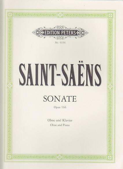 Saint-saëns C. - Oboe Sonata Op. 166 - Hautbois Et Piano