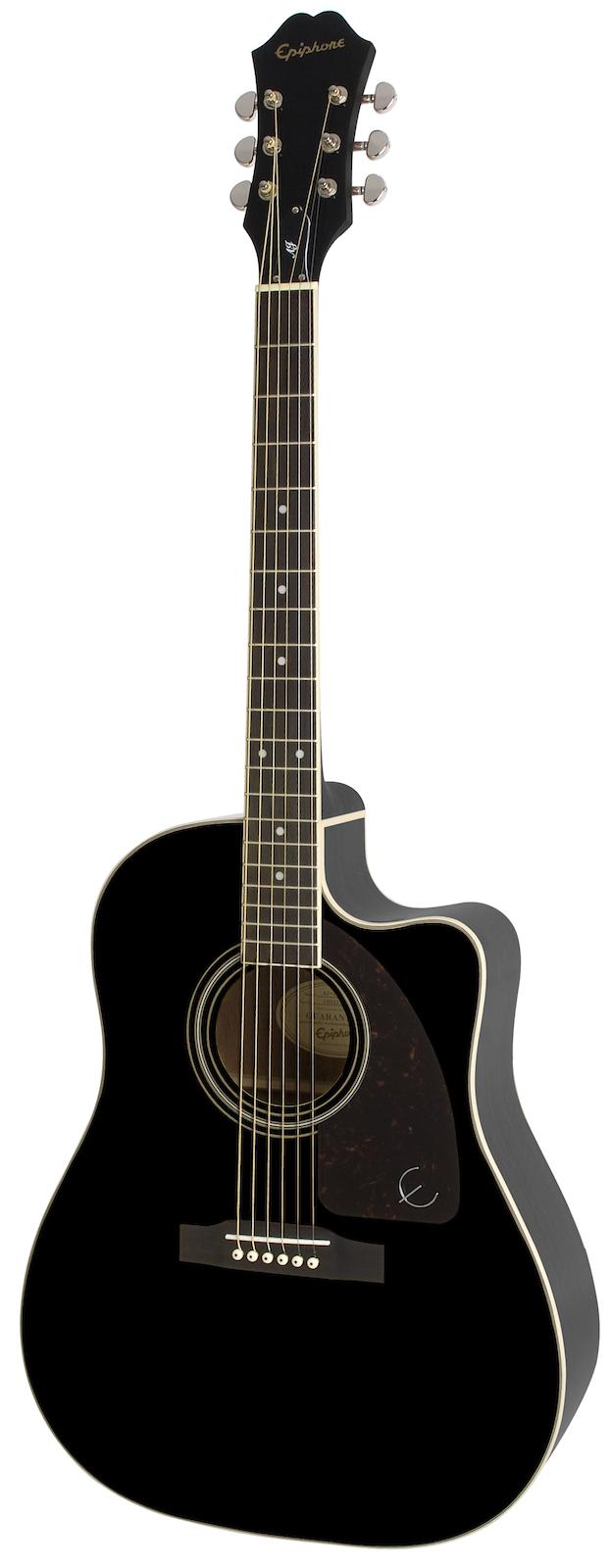 Epiphone Aj-220sce Ebony Black