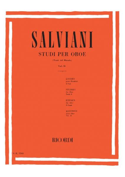 Salviani C. - Studi Per Oboe (tratti Dal Metodo). Vol. Ii