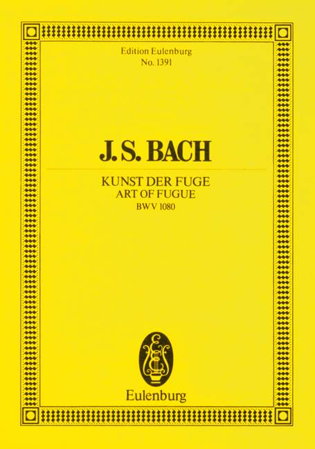 BACH J.S. - ART OF FUGUE BWV 1080 - CHAMBER ORCHESTRA