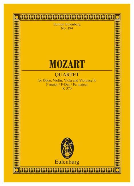 Mozart W.a. - Quartet F Major Kv 370 - Oboe, Violin, Viola And Cello