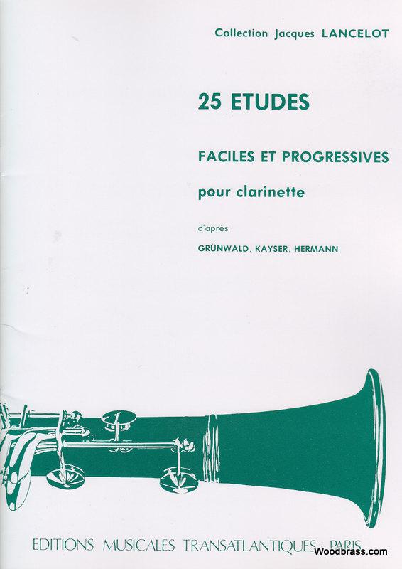 25 Etudes Faciles Et Progressives - Clarinette