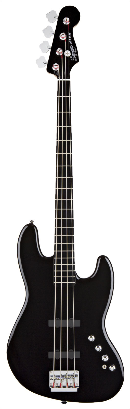 Squier By Fender Jazz Bass Deluxe Active 4 Rn Black