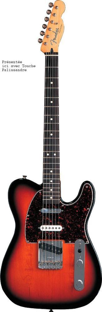 Fender Telecaster Mexican Deluxe Nashville Brown Sunburst + Housse