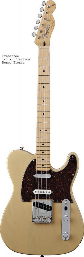 Fender Telecaster Mexican Deluxe Nashville Honey Blonde + Housse