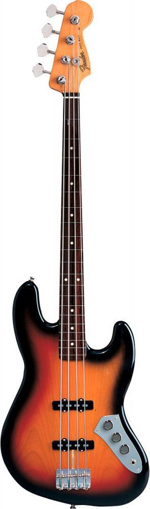 Fender Jaco Pastorius Jazz Bass Fretless Touche Palissandre 3 Color Sunburst