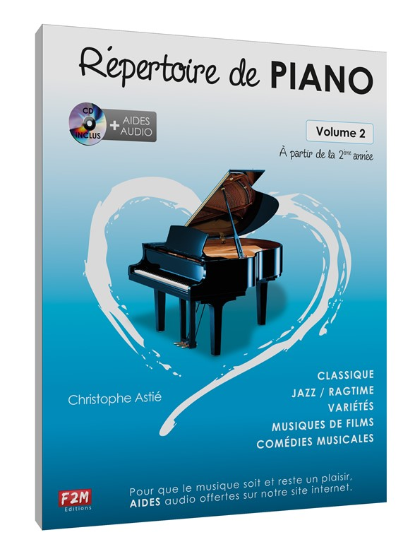 ASTIE CHRISTOPHE - REPERTOIRE DE PIANO VOL.2 + CD