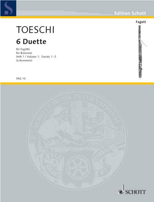 Toeschi Carl Joseph - Six Duets  Vol. 1 - 2 Bassoons