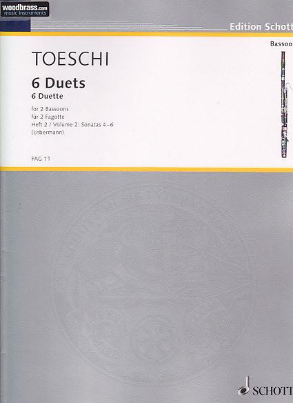 Toeschi C. J. - 6 Duette (vol. 2) - 2 Bassons