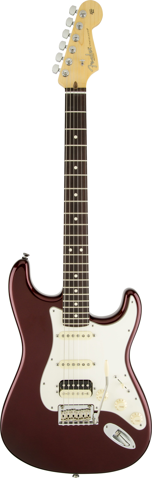 Fender American Standard Stratocaster Hss Shawbucker Rw Bordeaux Metallic + Etui