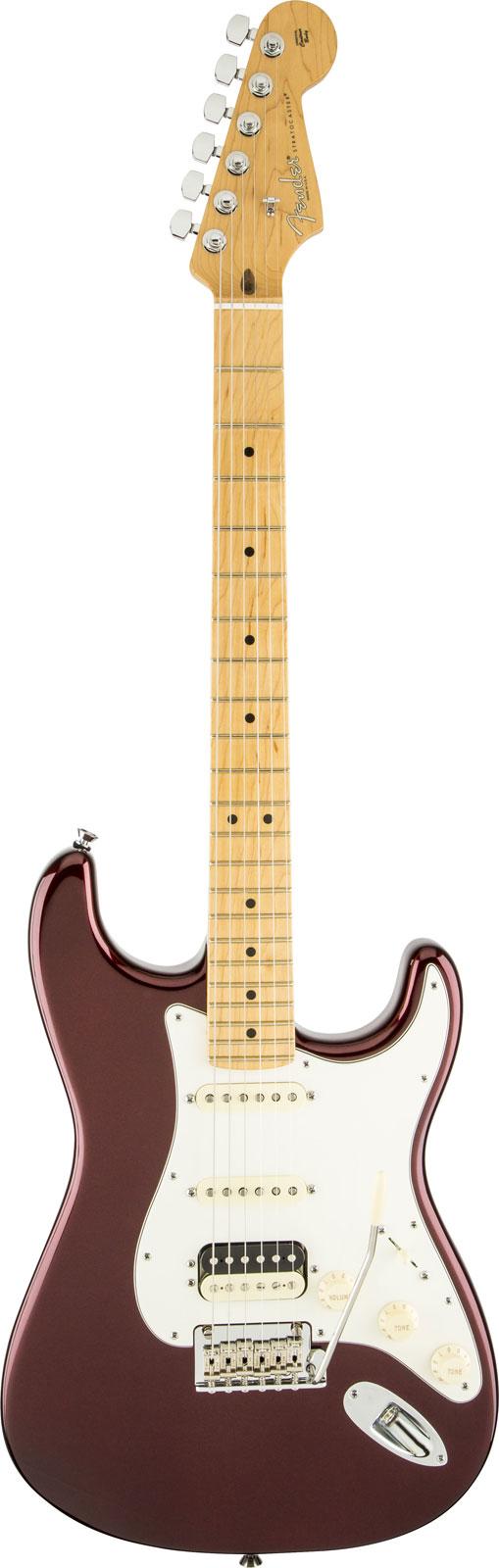 Fender American Standard Stratocaster Hss Shawbucker Mn Bordeaux Metallic + Etui