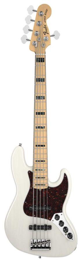 Fender American Deluxe Jazz Bass Frene White Blonde + Etui